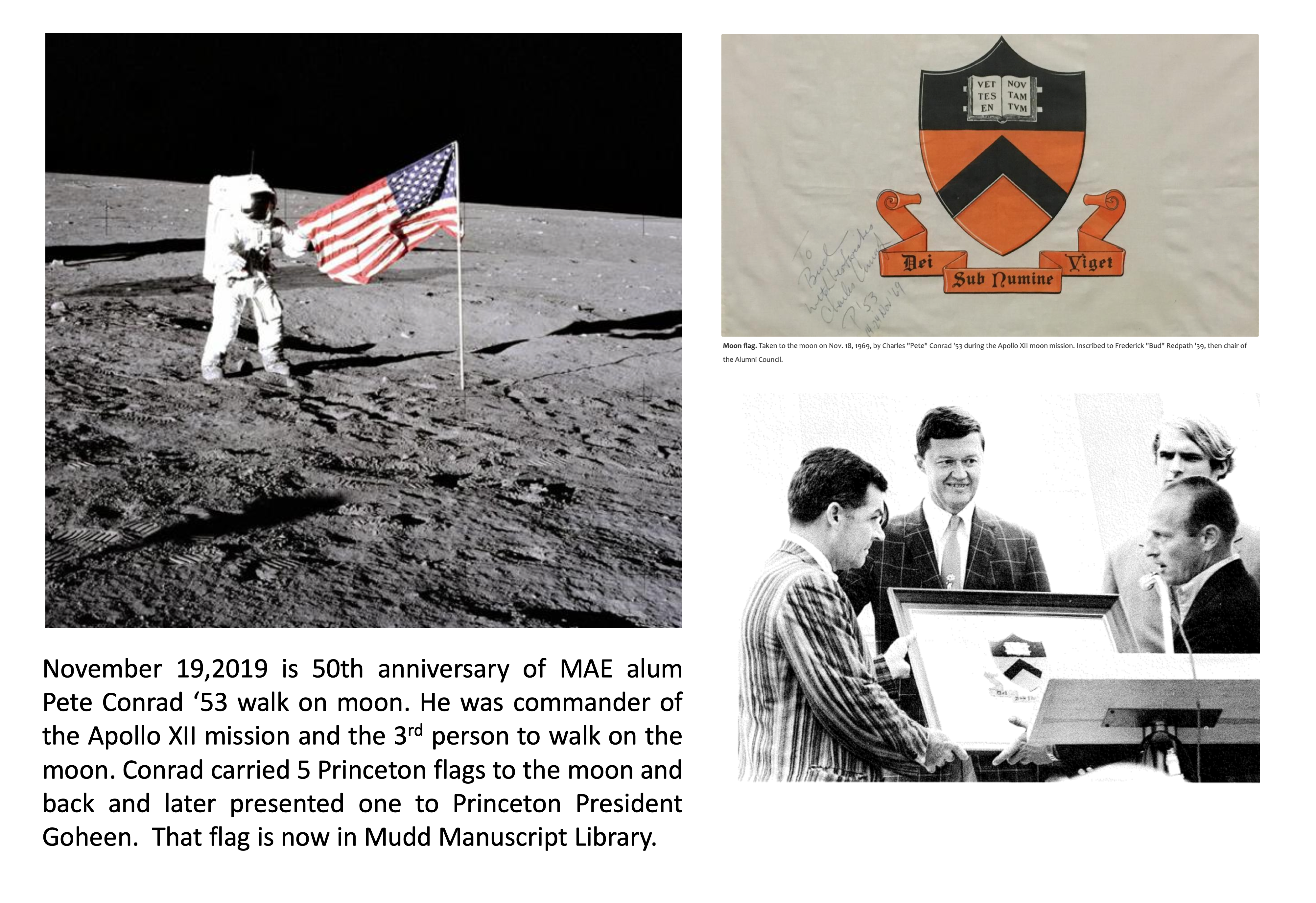 50 years ago - MAE grad Pete Conrad '53 commands the Apollo XII mission to the moon