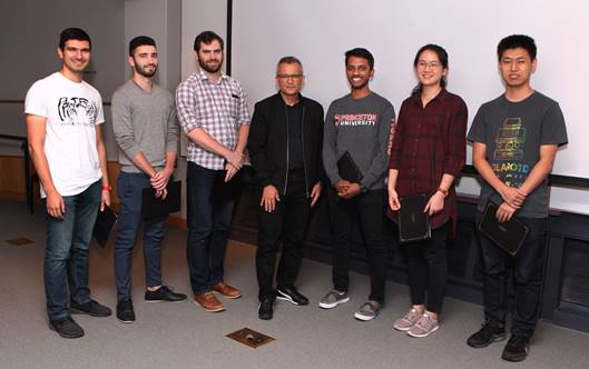 Some of our fellowship recipients: Alex Farid, Cristian Lacey, Rory Conlin, Alex Glaser (DGS), Paul Kaneelil, Jiarong Wu, and Zirui Liu